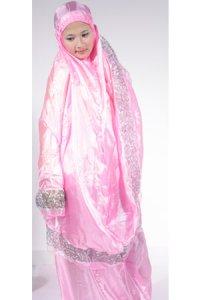 Mukena Abutai 2 - Pink Tua (Toko Jilbab dan Busana Muslimah Terbaru)