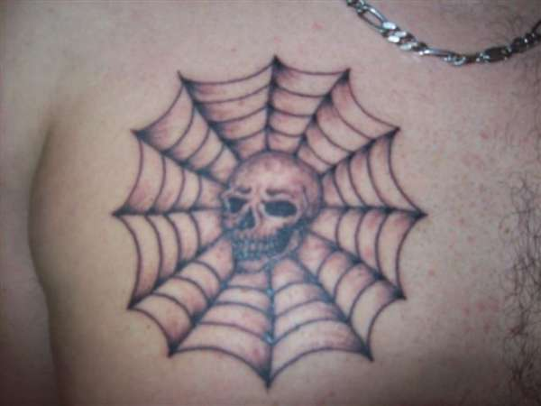 Spider web tattoos design and symbolism