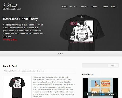 T-Shirt Blogger Theme