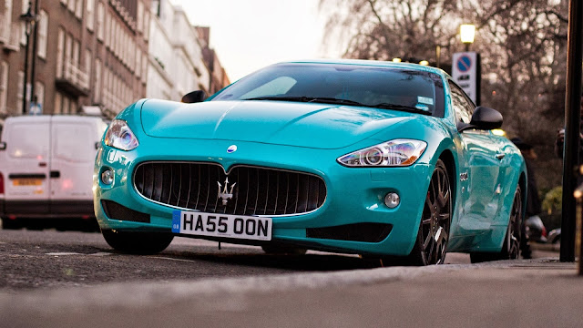 Maserati Gran Turismo Light Blue