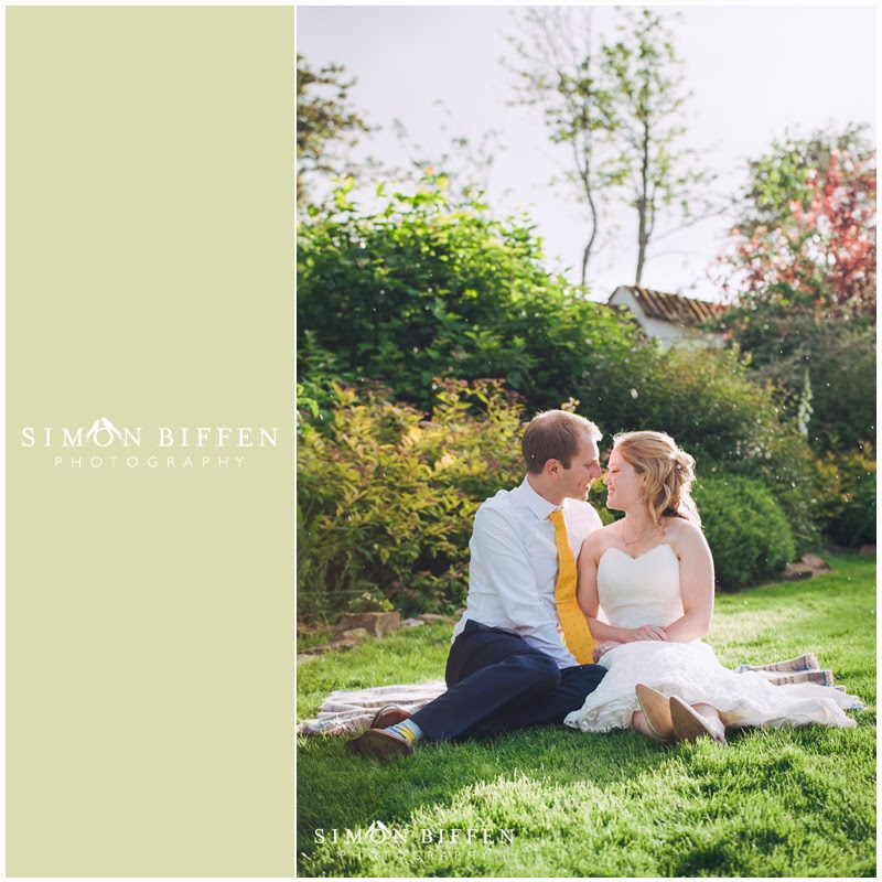 Bride and groom Corn Barn Devon