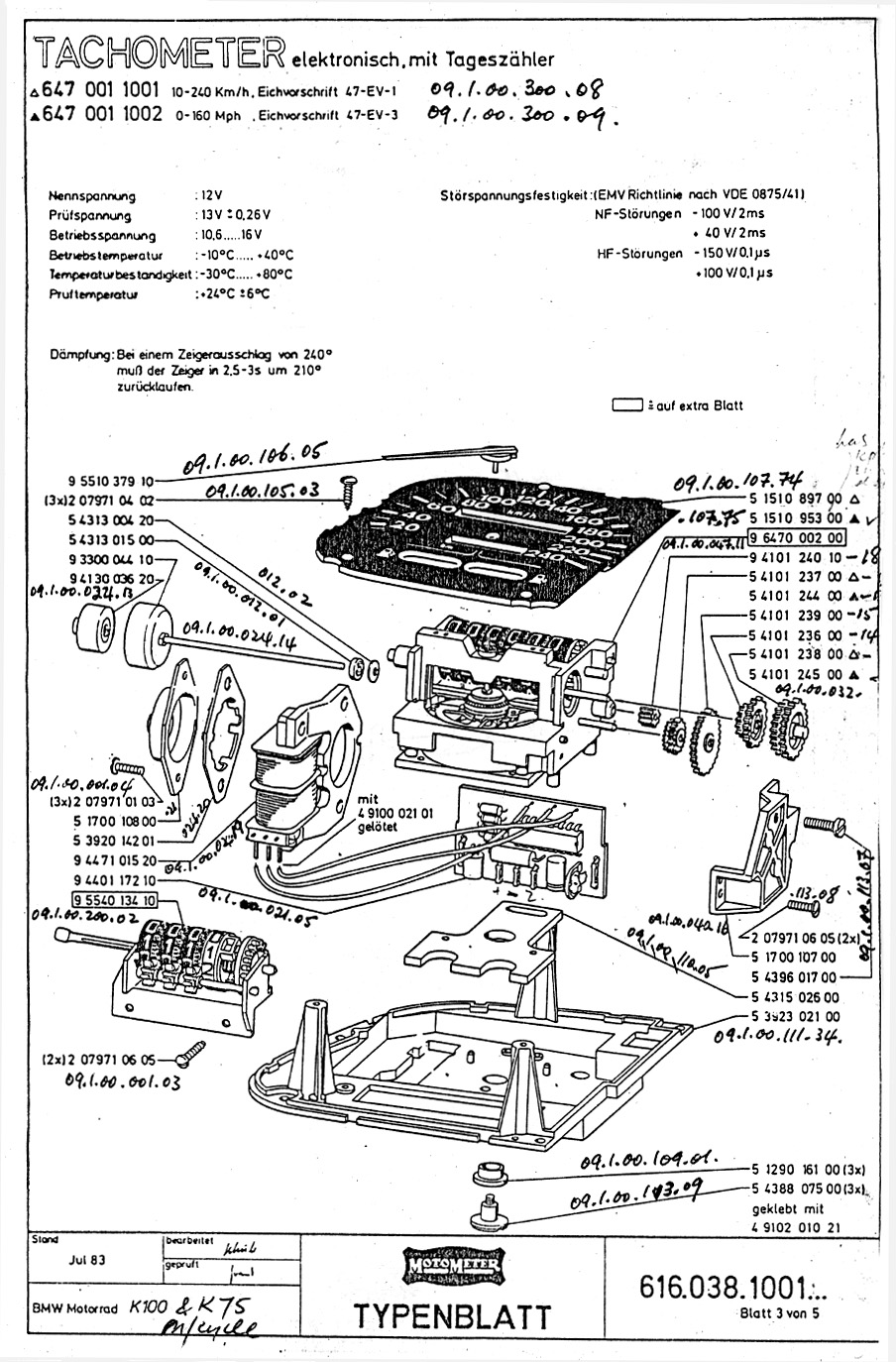 Bmw K100 Motor Schematic Motorcycle Image Ideas 1985 Wiring Diagram The Velobanjogent K100bmw Motometer Instruments German