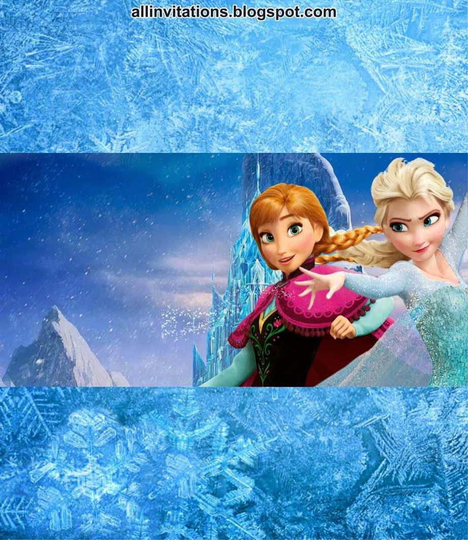 Plantilla para etiqueta de chocolate con el tema de Frozen una aventura congelada