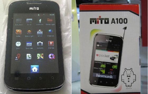 Mito A100, Smartphone Android Lokal Dengan Harga 400 Ribuan