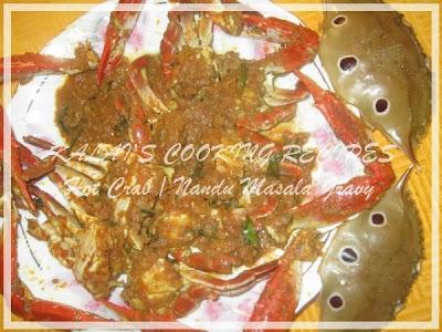 Hot Crab / Nandu Masala Gravy Recipe