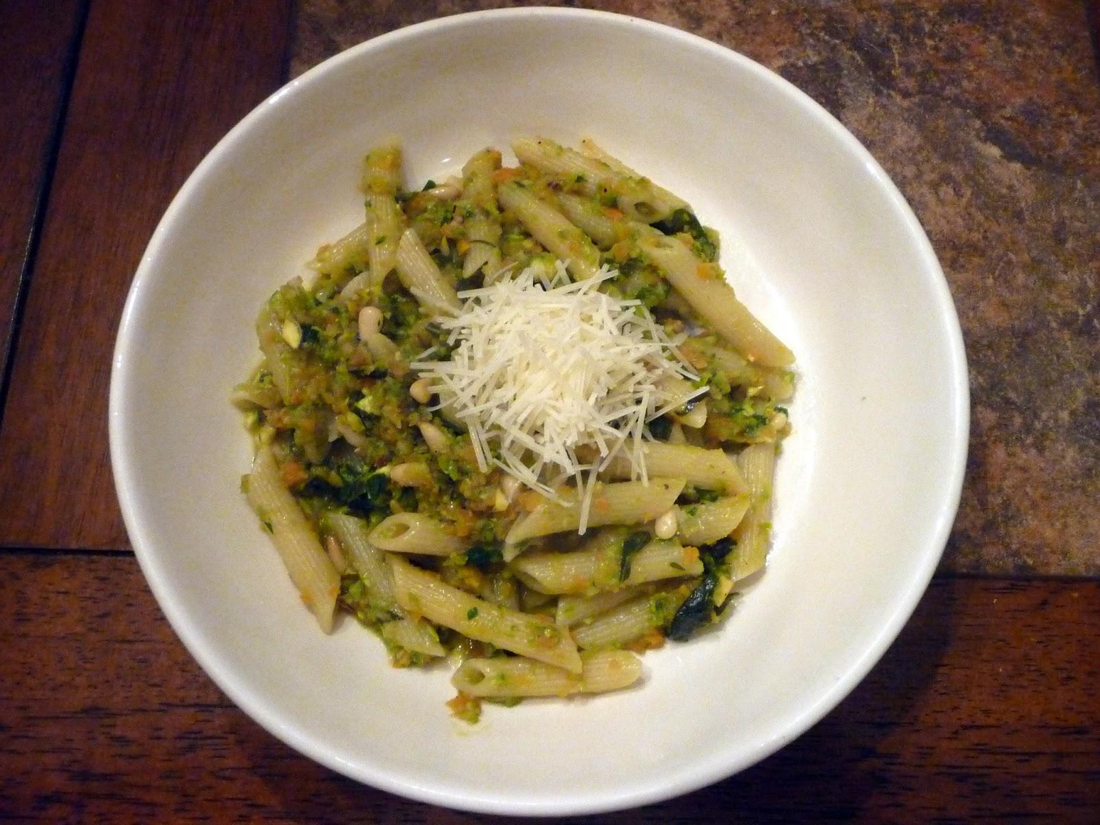 Chef Bolek: Penne Rigate with Asparagus-Pistachio Pesto