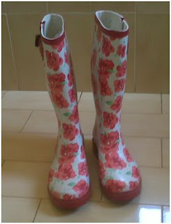 Author Edyth Bulbring's wellies/ gumboots