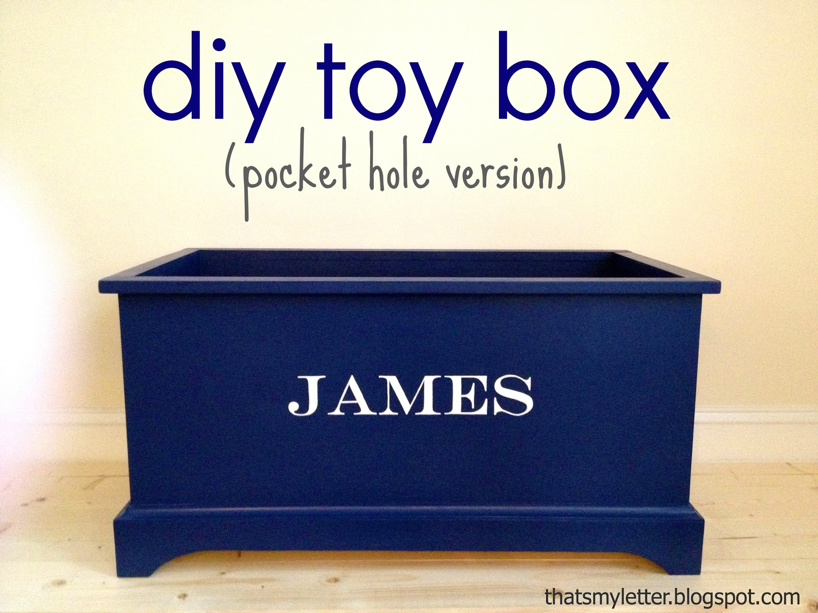 Toy Box Build: toy box