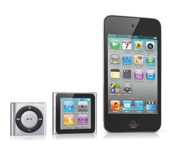 Nueva generación de iPod con iPhone 5
