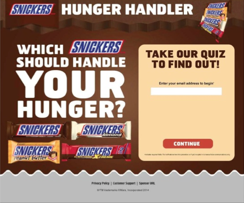 SNICKERS Hunger Quiz #WhenImHungry #ad