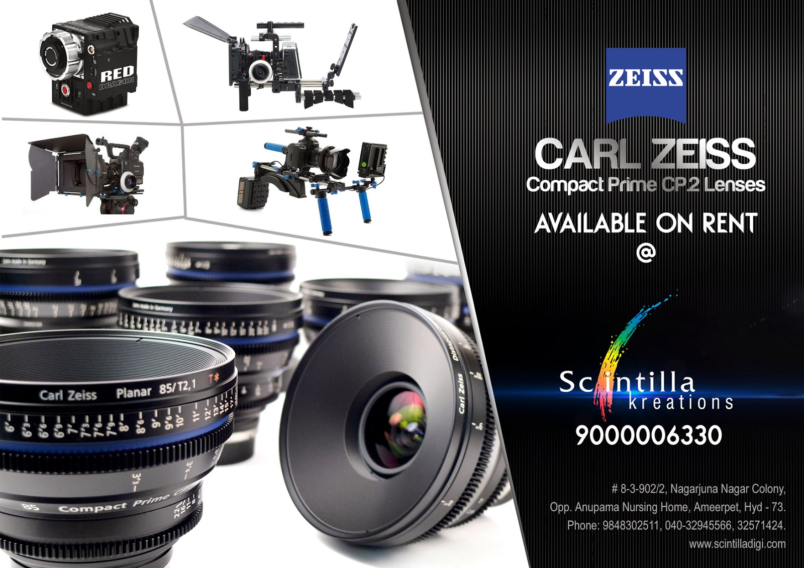 Cameras and lenses on rental in hyderabad | FILM & VIDEO EQUIPMENT ...