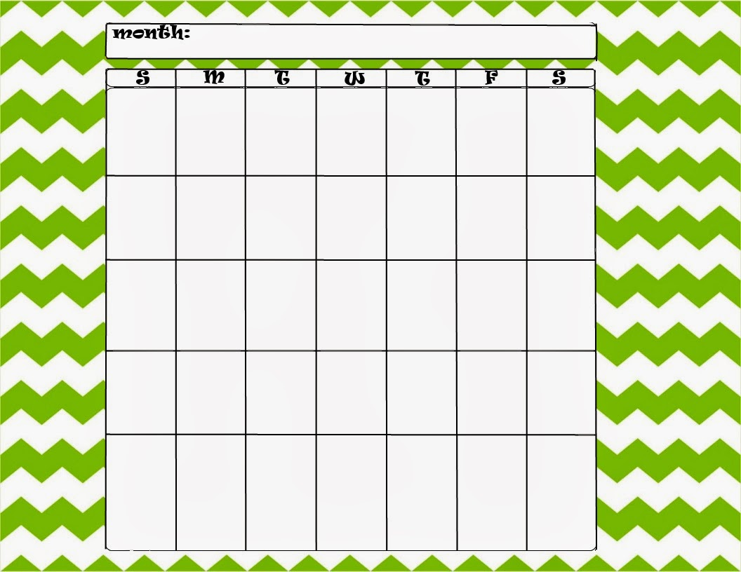 Card Templates additionally Large Blank Monthly Calendar Template ...