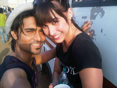 Rare Hot Pic - Lauren Gottlieb with Salman Yusaff Khan