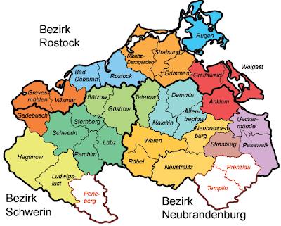 Mecklenburg-Vorpommern Mapa Político