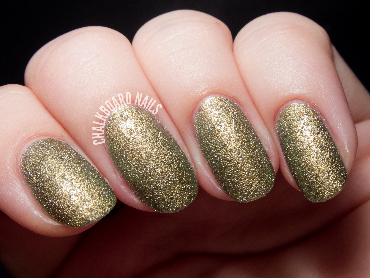Dermelect Gilded via @chalkboardnails