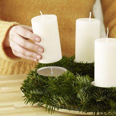 Cantinho da b centro de mesa de natal com passo a passo - Como hacer un centro de mesa navideno ...