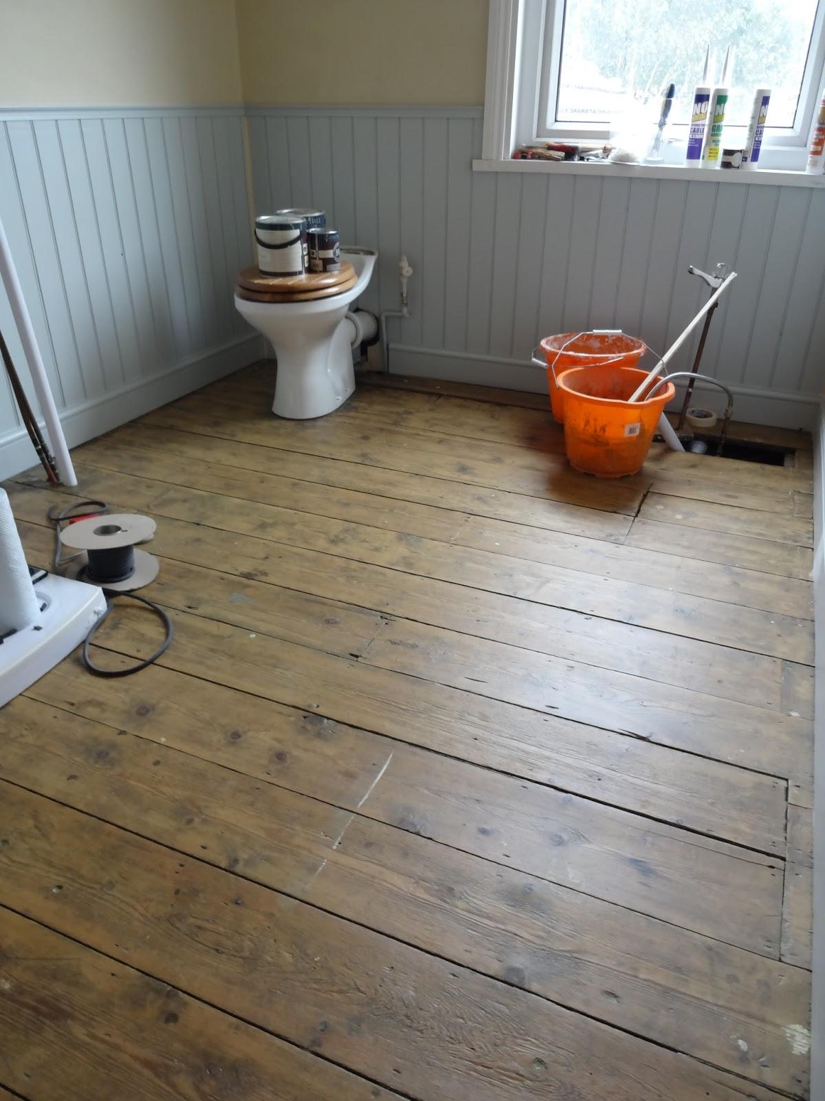 Bathroom floorboards