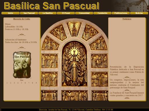 Página en construcción sobre la Basílica de San Pascual