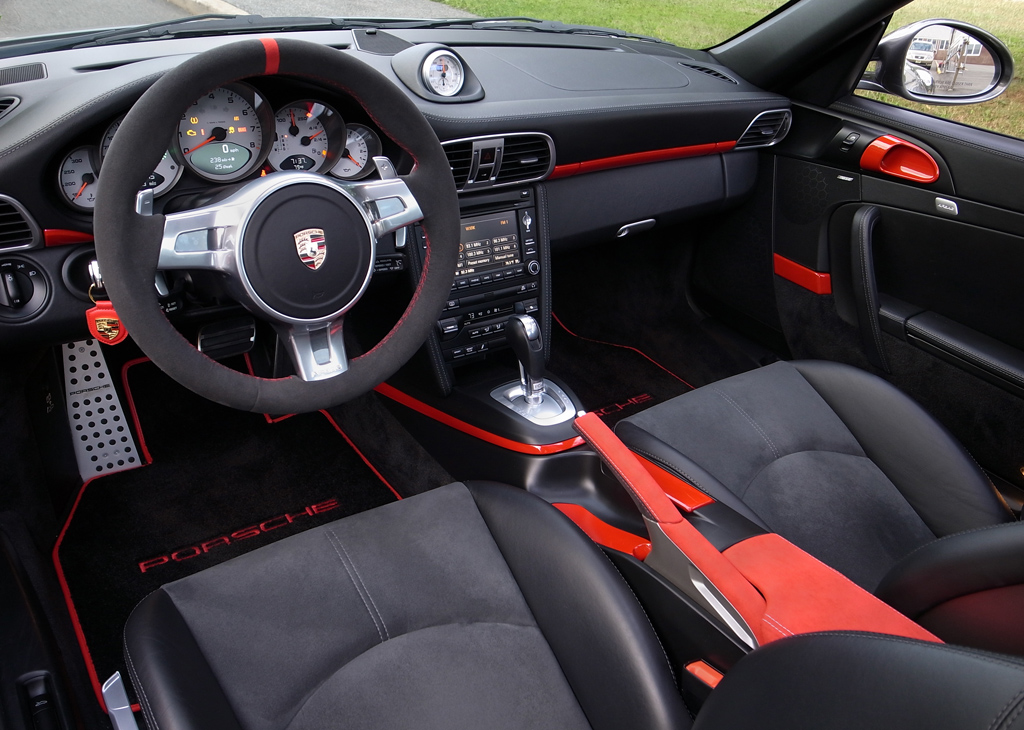 2009 4s pdk black leather with some red alcantara 6speedonline porsche forum and luxury car. Black Bedroom Furniture Sets. Home Design Ideas