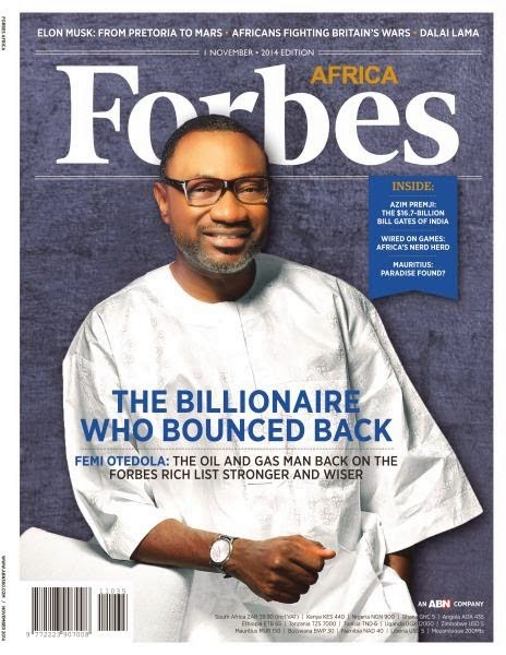 FORBES picks Nigerian Femi Otedola In November Cover