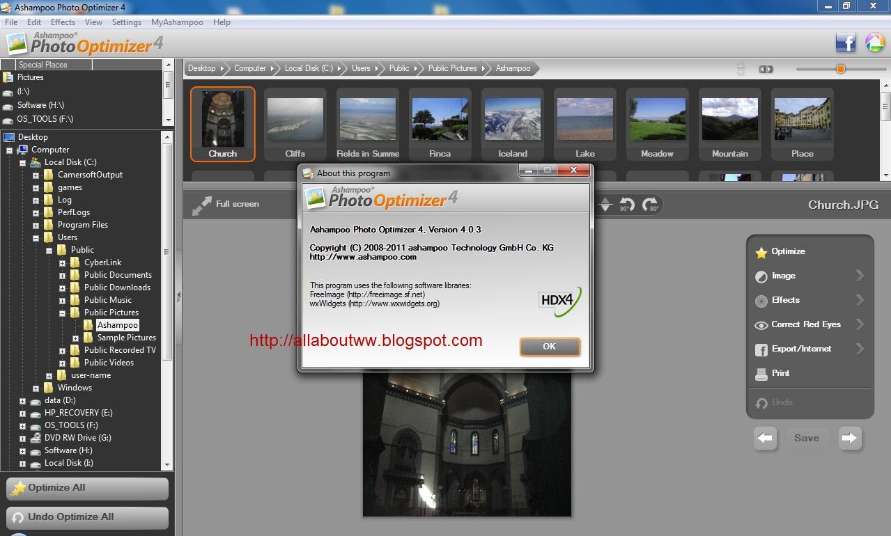Ashampoo Photo Optimizer v4.0.3 + Crack.