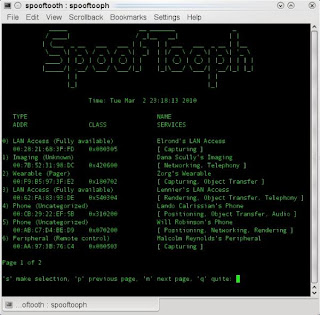 Spooftooph - Automated Tool for spoofing or cloning Bluetooth device