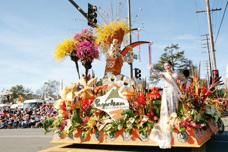 Pawai bunga Indonesia, Pasadena.
