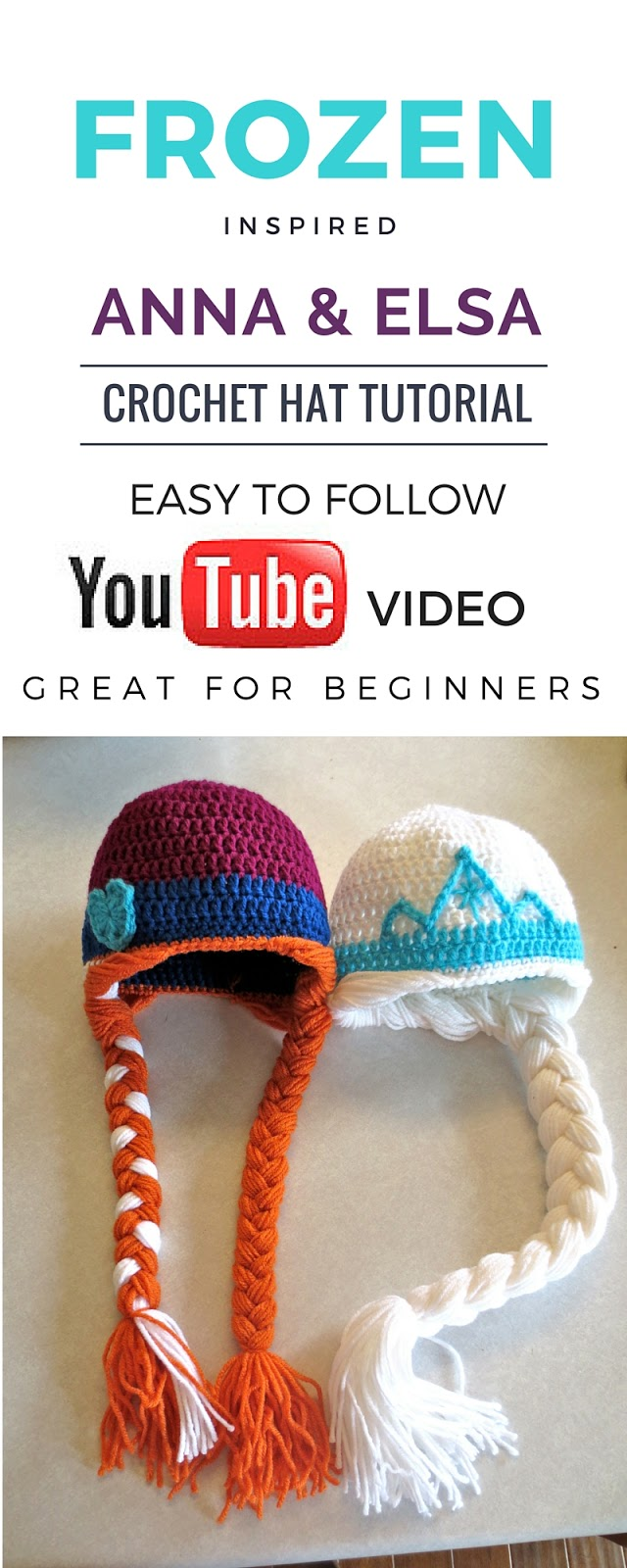 Free Frozen Inspired Anna And Elsa Crochet Hat Tutorial