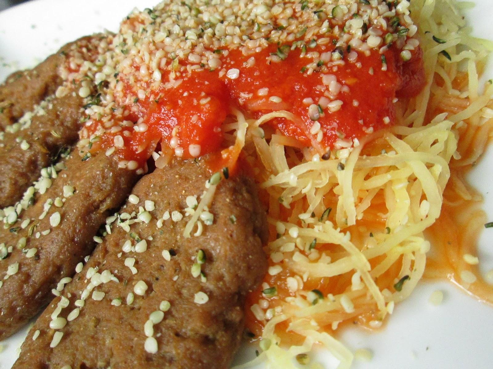 Don't Get Mad, Get Vegan!: Roasted Spaghetti Squash Dinner
