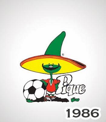 Pique Maskot Piala Dunia 1986 Meksiko