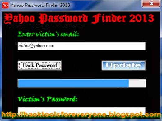 Yahoo Password Finder 2013