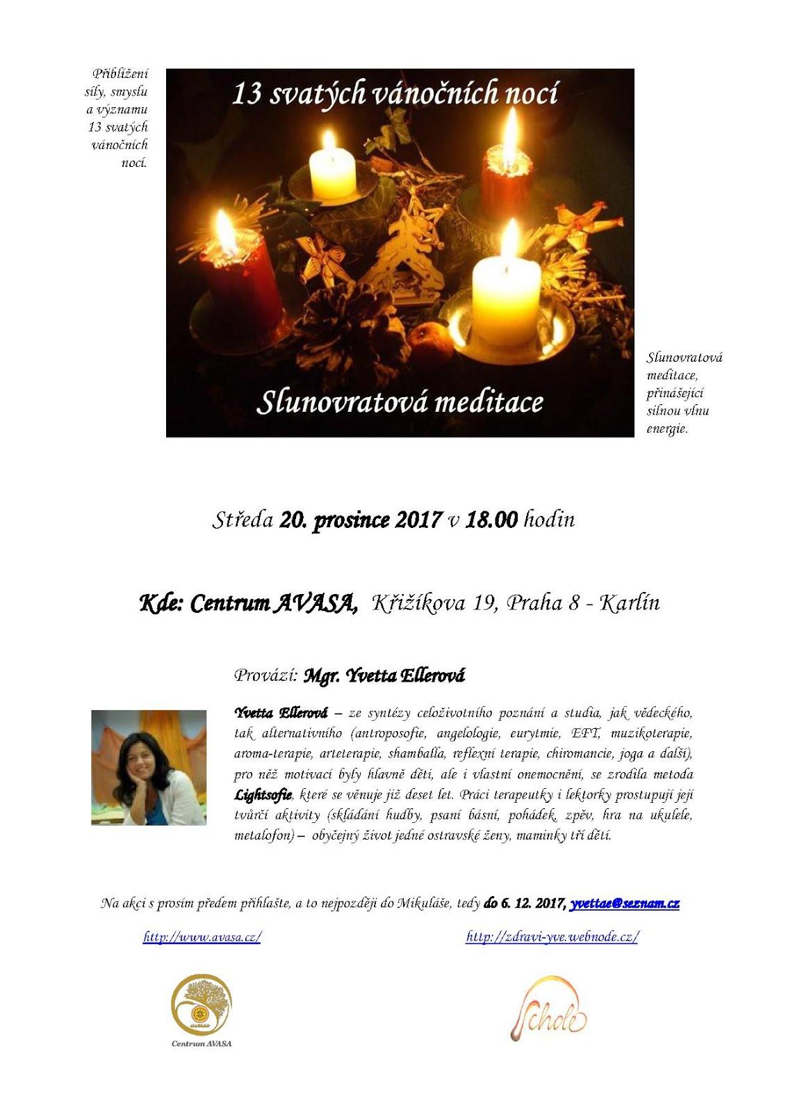 Slunovratová meditace v Praze - centrum AVASA