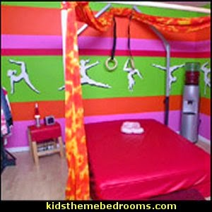 gymnastics bedroom. gymnastics theme bedroom decorating ideas m