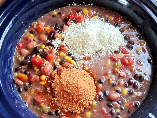 making homemade Taco Soup