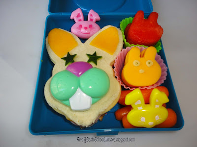 Bunnies everywhere bento school lunch
