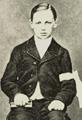 Arthur Rimbaud retratado en su primera comunión