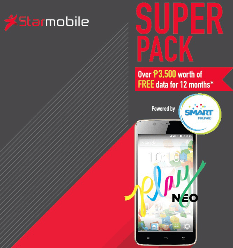STARMOBILE PLAY NEO ANNOUNCED! PRICED AT 2,990 W/ UP TO 700 MB FREE DATA PER MONTH FOR 1 YEAR!