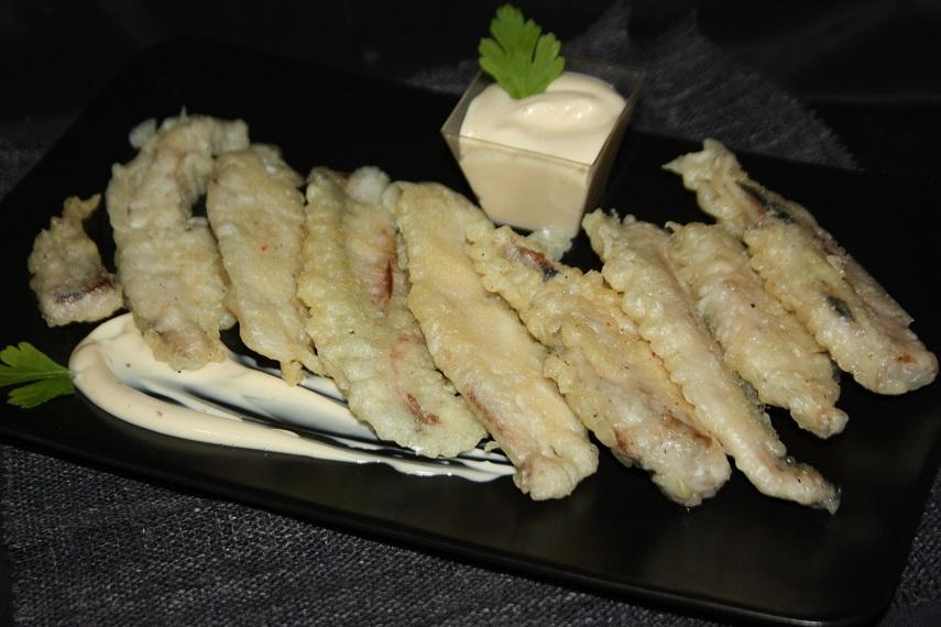Receta jurel en tempura con mayosoja for Cocinar jurel