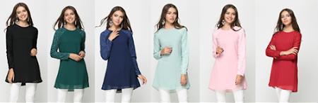 Sangat Elegan & Trendy dengan Exclusive Lace Di Bahagian Tangan 16 warna Menawan!
