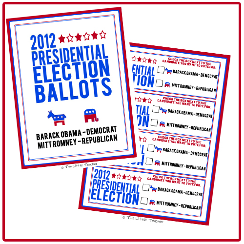 Click to download a copy of the 2012 Presidential Election Ballots