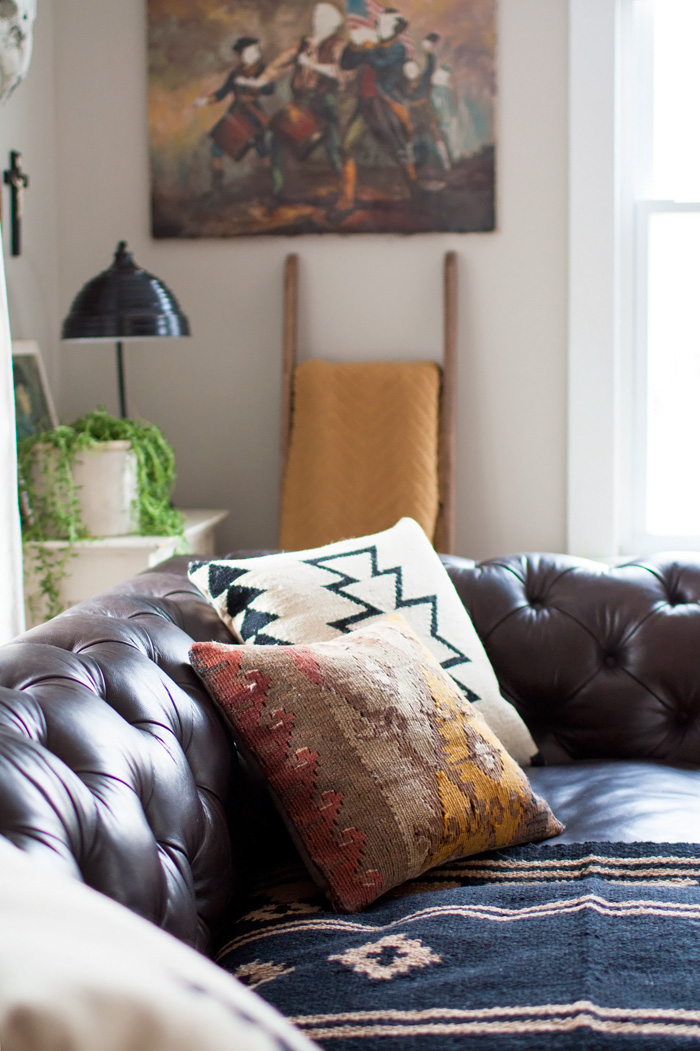 Throw Pillows Vs Lens Flare : Leather Sofa Pillows.Pillows On A Brown Leather Sofa Stock Photo. Pale Pink Throw Pillows ...