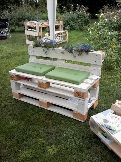 ideas para hacer mueble de exterior con palets truco hogar