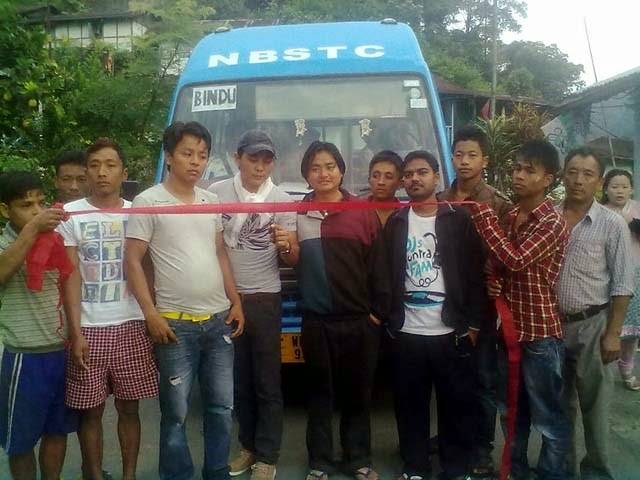 NBSTC two new buses for Pedong and Bindu