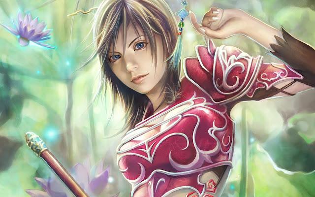 Gorgeous Beauty Female Warrior Anime Girl CG Artwork Desktop Background High Quality Wallpaper