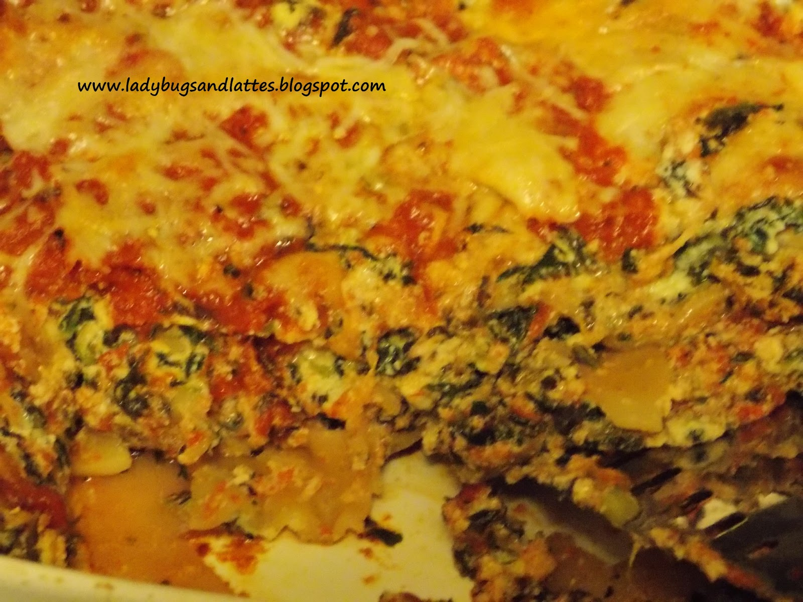 Ladybugs and Lattes: Easy Spinach Lasagna