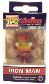 Front of Iron Man Pocket Pop Keychain in box