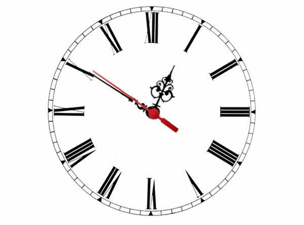 An analogue clock using only CSS