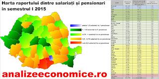 Harta raportului dureros dintre salariați și pensionari