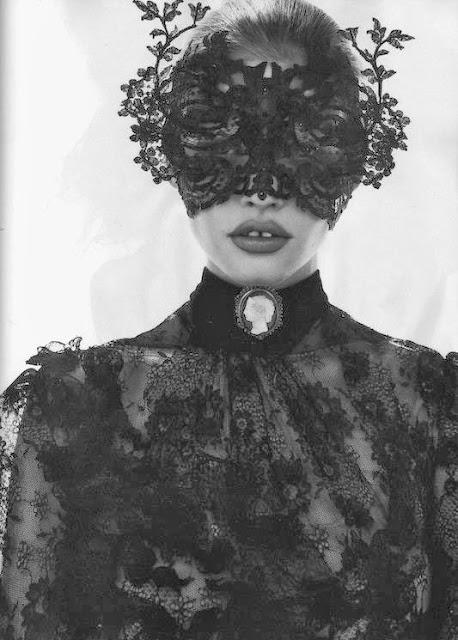 Fetish Inspirations : Lace Black Mask Vistoria's Style
