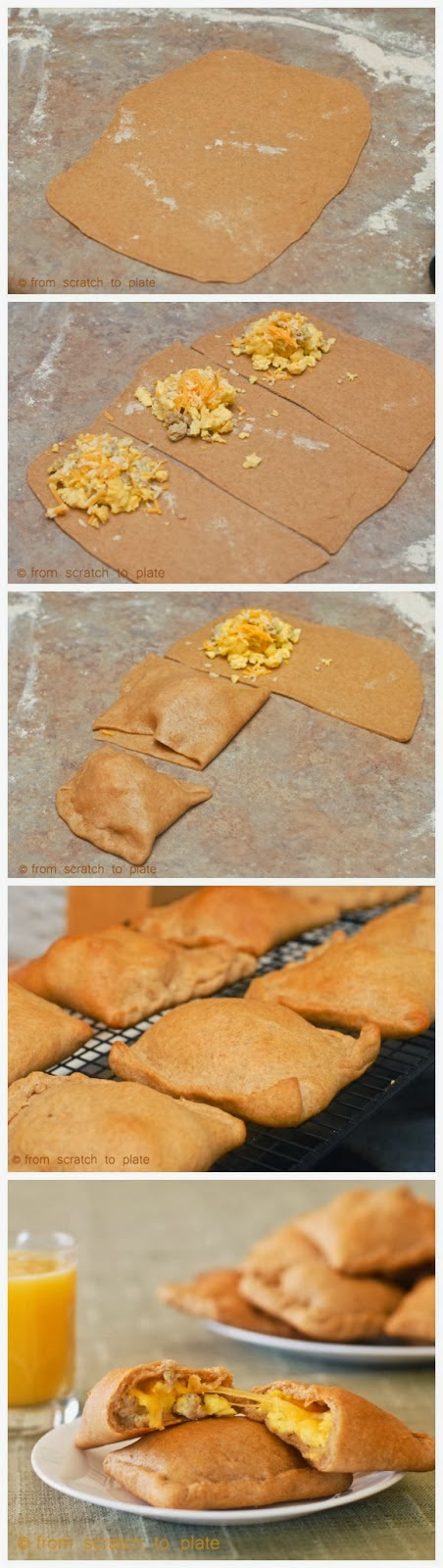 Whole Wheat Breakfast Pockets